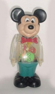 1978 Walking Mickey Mouse Windup See thru Figure