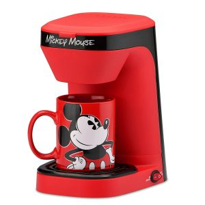 Disney Mickey Mouse Single Serve Coffee Maker, Red and Black
