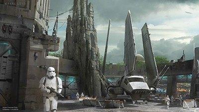 Disneyland star wars land construction