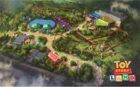 Toy Story Land COoncept Art Disney