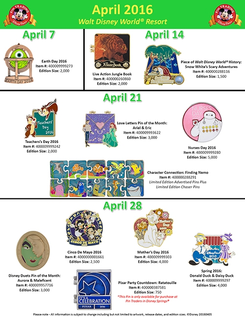 disney world trading pins april 2016