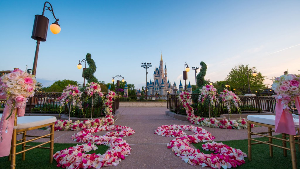 wedding cinderellas castle disney world