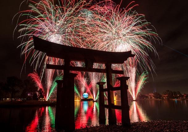 epcot holliday illuminations fireworks