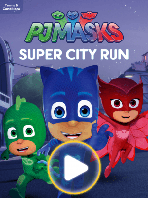 New Disney Mobile Game Pj Masks Super City Run