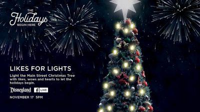 Disneyland Christmas Tree facebook live stream