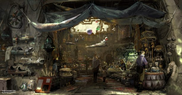 Star Wars Galaxys Edge marketplace