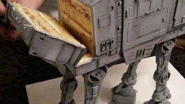 An amazing Star Wars AT-AT cake