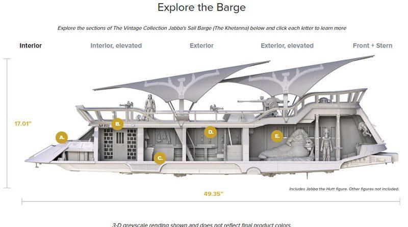 hasbro Jabba's Sail Barge