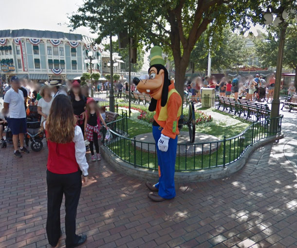 google street view disney world disneyland