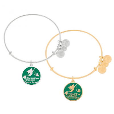 Ariel Bangle by Alex and Ani (green) | Disney Jewelry