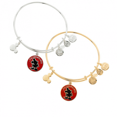 "Mickey Mouse ""It all started with a mouse"" Bangle by Alex and Ani (red)"