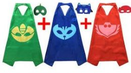 PJ Masks Costumes For Kids Set of 3 Catboy Owlette Gekko Mask with Capes