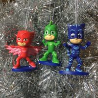 PJ Masks Christmas Ornaments (Gekko, Catboy and Owlette)