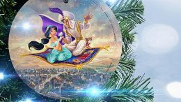 Disney Aladdin Glass Christmas Ornament