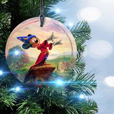 Disney Fantasia Glass Christmas Ornament