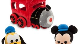 Mickey Mouse and Pluto Plush Train Playset
