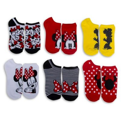Disney Women's Minnie Mouse Low-Cut Socks (6-Pack)