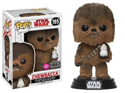 Star Wars The Last Jedi Chewbacca with Porg Funko Pop Figure