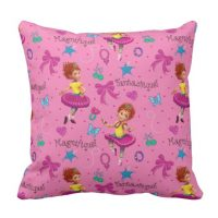 Fancy Nancy Throw Pillow | Magnifique Pink Pattern