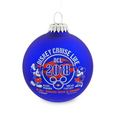Disney Cruise Line 2018 Glass Ornament
