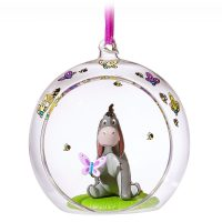 Eeyore Glass Globe Sketchbook Christmas Ornament