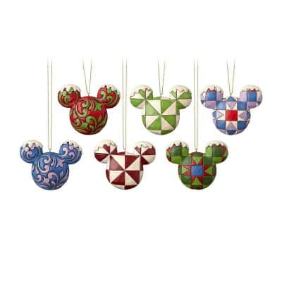 Mickey Mouse Ears Christmas Ornament Set