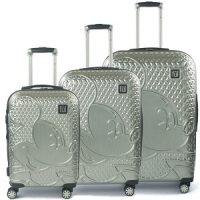 Mickey Mouse Hardside 3-Piece Textured Luggage Set