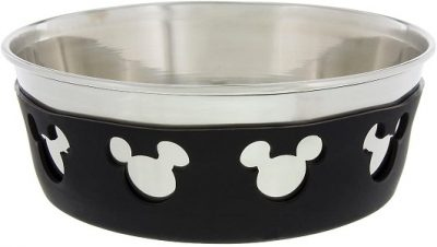 Disney Parks Mickey Mouse Silicone on Metal Pet Dish