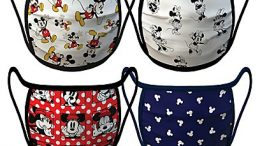 Mickey and Minnie Mouse Face Masks 4-Pack | Disney Face Masks
