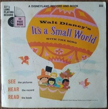 It's a Small World Book & Record 33 1/3rpm – 1968