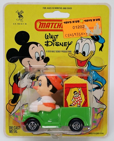 Pinocchio Disney Matchbox Diecast Car – 1979
