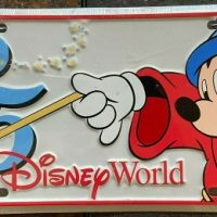 Walt Disney World 25th Anniversary Metal License Plate - 1996